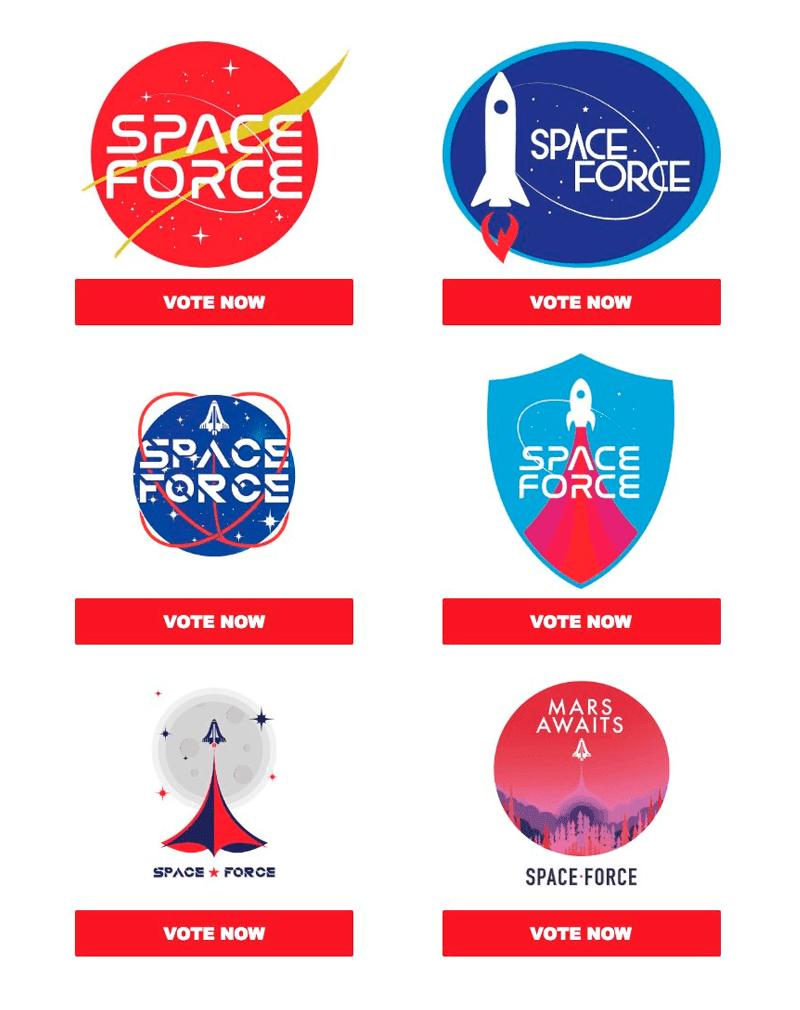 logos-Space-Force-fuerza- armadas-espaciales-Donald-Trump