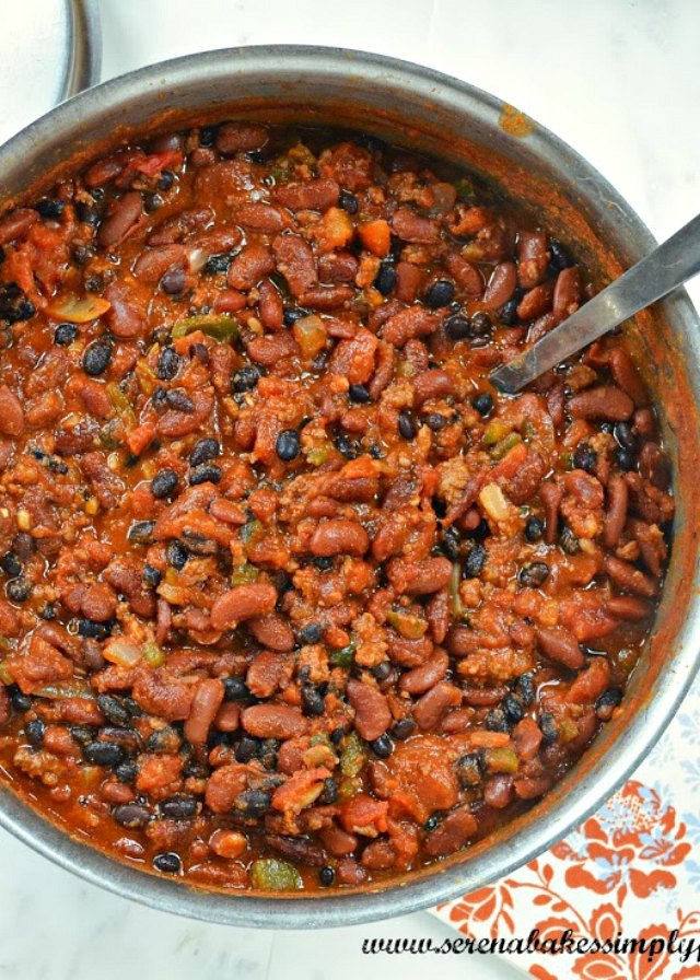 Darn Good Chili recipe is a fall favorite for dinner! It can be made on the stovetop or crockpot from Serena Bakes Simply From Scratch.