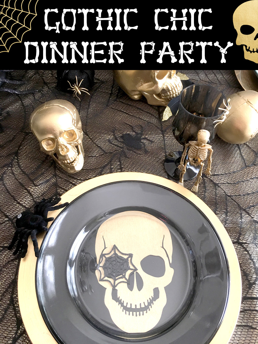 bellagrey designs gothic chic halloween dinner party. Black Bedroom Furniture Sets. Home Design Ideas