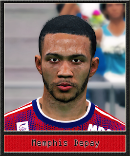 PES 2017 Faces Memphis Depay by Dewatupai