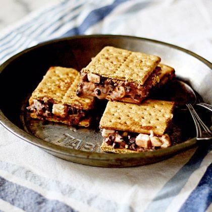 Rocky Road Graham Cracker Ice Cream Sandwiches