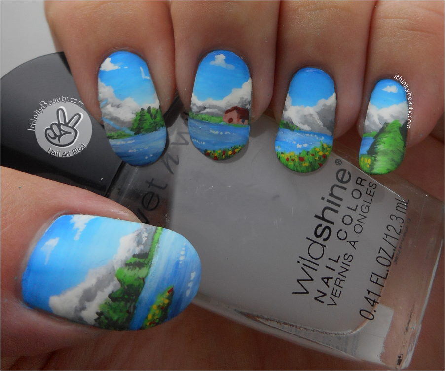 Mountain Scenery Cozy Cabin Nail Art Ithinitybeauty Nail Art