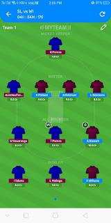 SL VS WI DREAM11 LINEUP