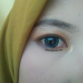 Review Softlens X2 Bio Color Blue dan A+ Big Eyes blue