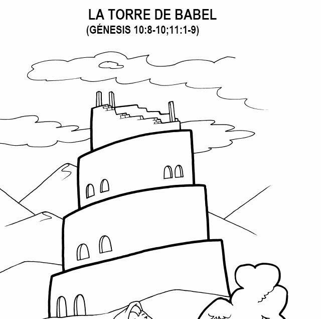 Cantinho Do Evangelismo Infantil Torre De Babel Desenhos Para