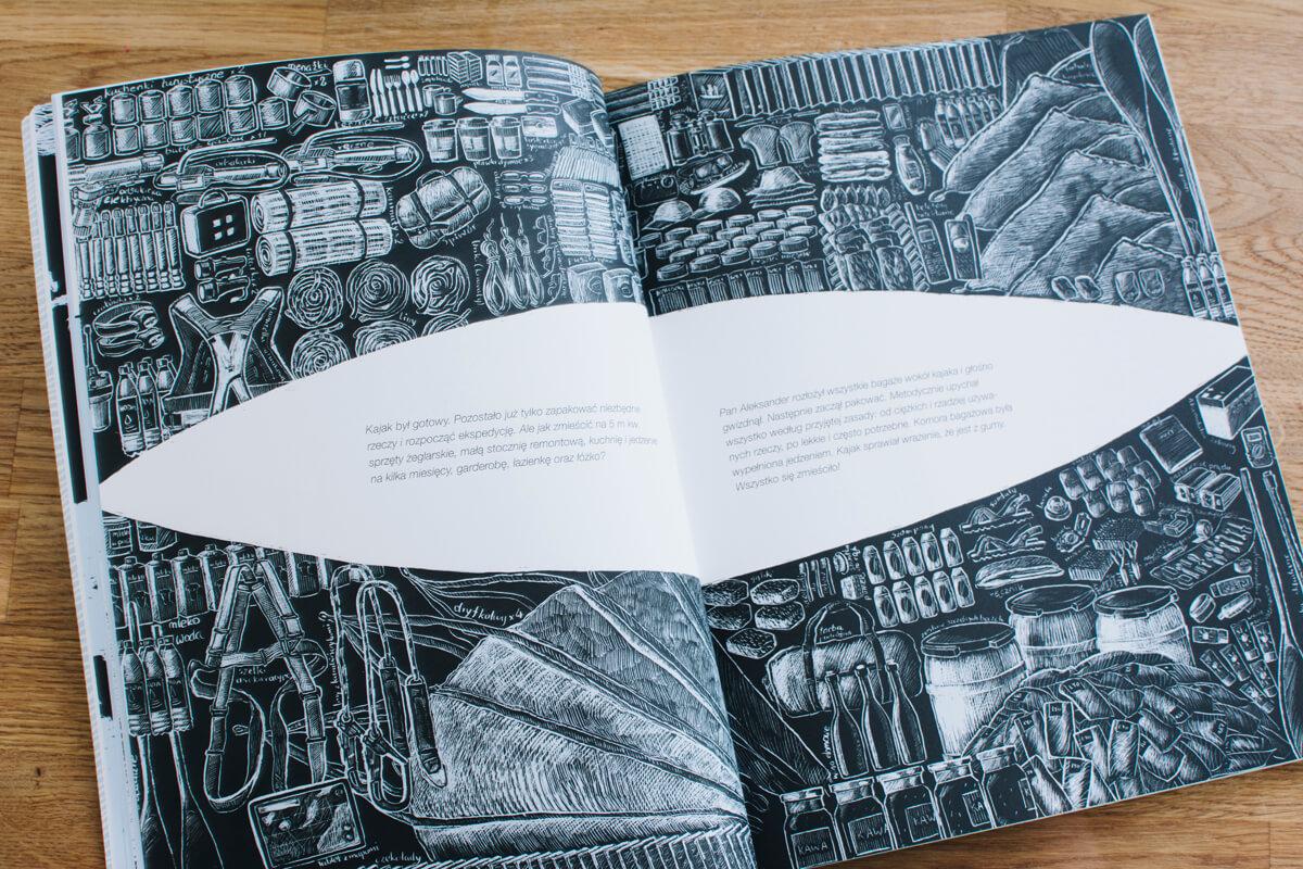 Książka o podróży kajakiem dla dzieci
