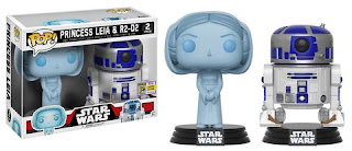 Pop! Star Wars: Holographic Princess Leia & R2-D2