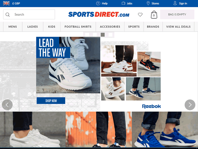 You can also find affordable women and men's fashion for every occasion on SportsDirect