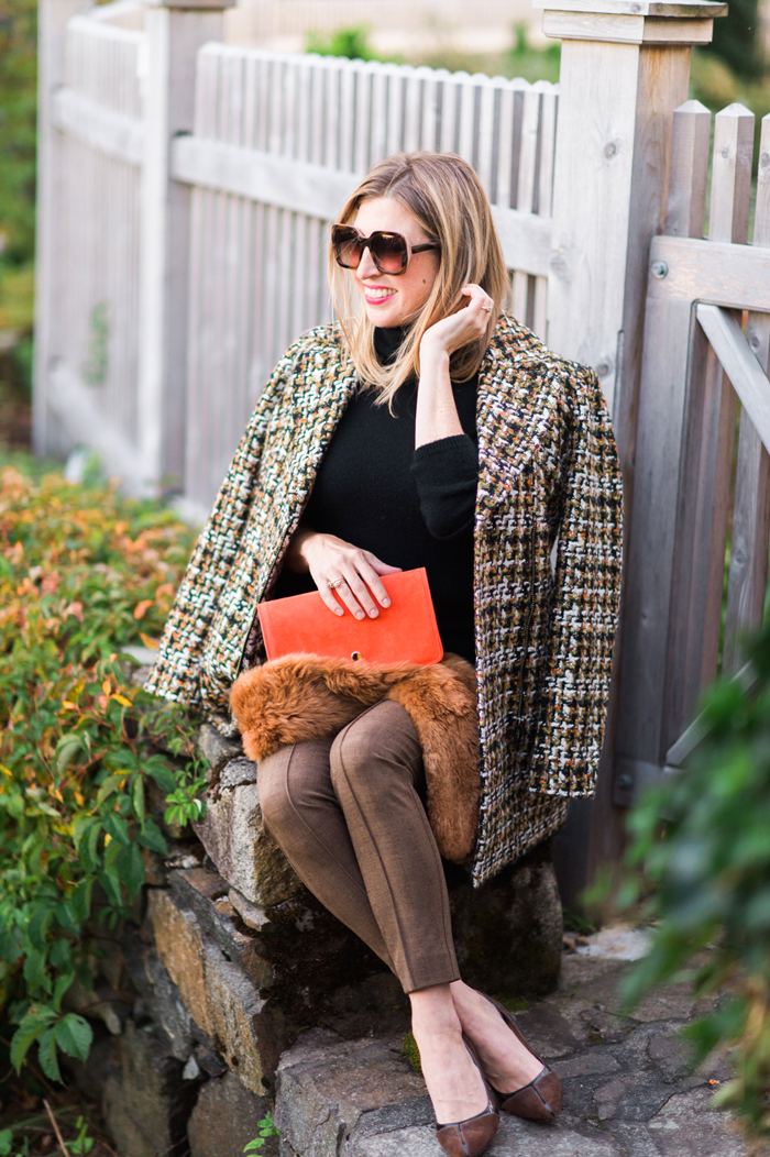 Talbots Autumn Tweed Coat