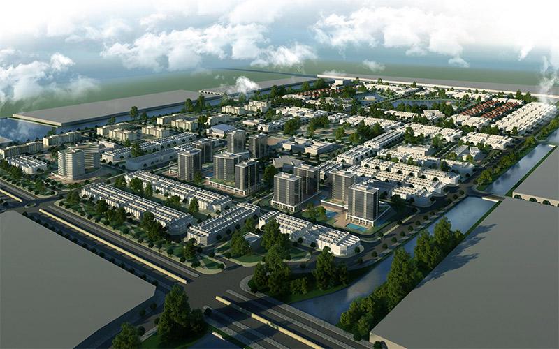 Phối cảnh tổng thể The New City Châu Đốc
