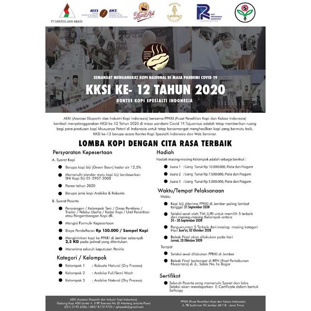Ikuti Lomba Kontes Kopi Spesialti Indonesia ke 12
