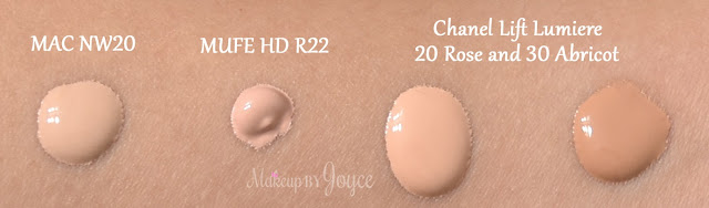 Chanel Lift Lumiere Concealer 20 Rose 30 Abricot Swatch