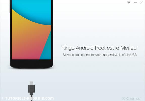 Kingo ROOT Android : connecter le mobile au PC