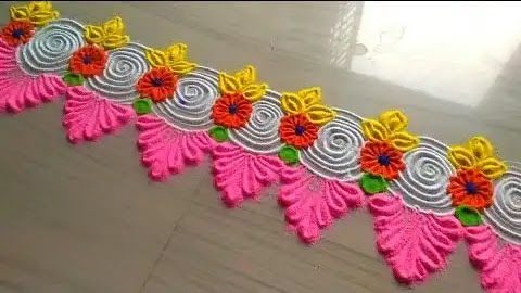 cute rangoli design you can make for borders