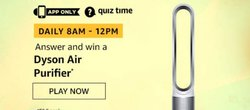 Amazon Quiz 7 December 2019 Answer Win - Dyson Air Purifier
