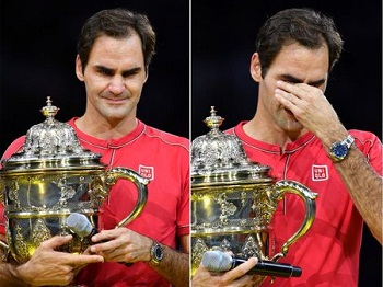 Roger Federer beat Alex de Minaur won record 10th titles Swiss Indoors final 2019.