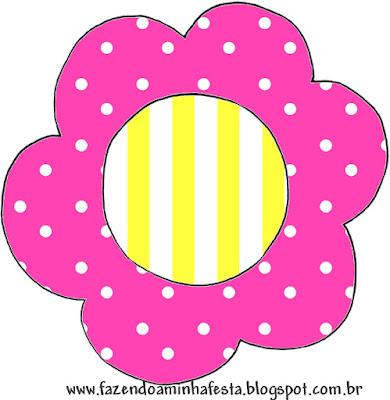 Toppers o Etiquetas de Rosado y Amarillo para imprimir gratis.
