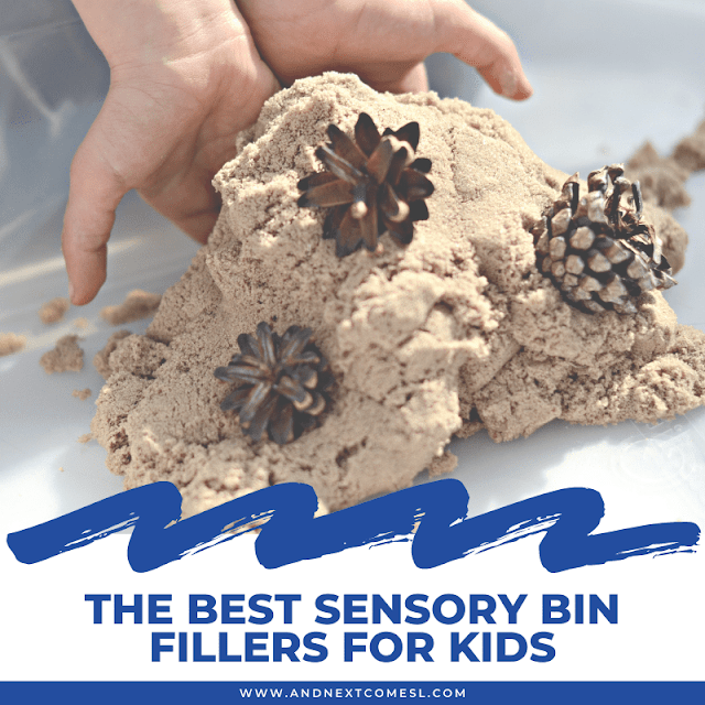 Huge list of sensory bin fillers for kids