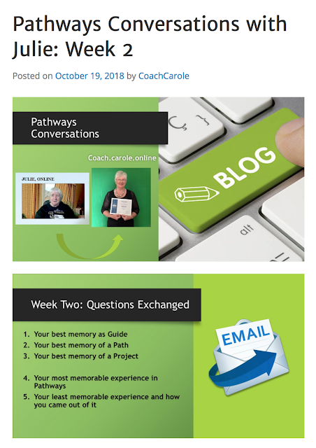 Pathways Conversations with Carole: Week 2