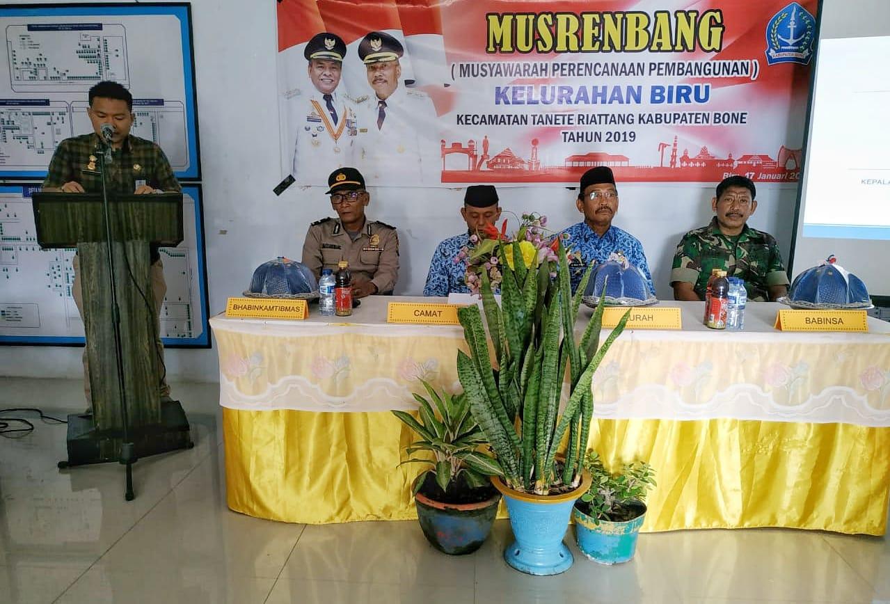 Laksanakan Musrembang, Camat Tanete Riattang Apresiasi Lurah Biru