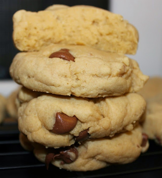 the best and thickest chocolate chip cookies