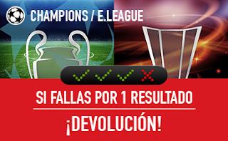 sportium Combinada Con Seguro Champions y Europa League 28-30 agosto