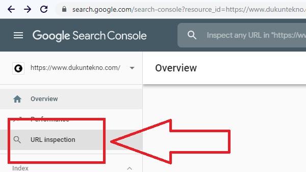 3. Setelah terbuka situs yang dimaksud, sekaran buka menu Inspeksi Url.