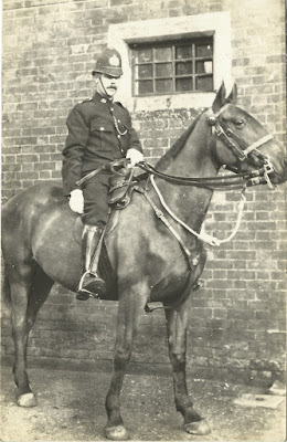 Policeman mounted on a horse