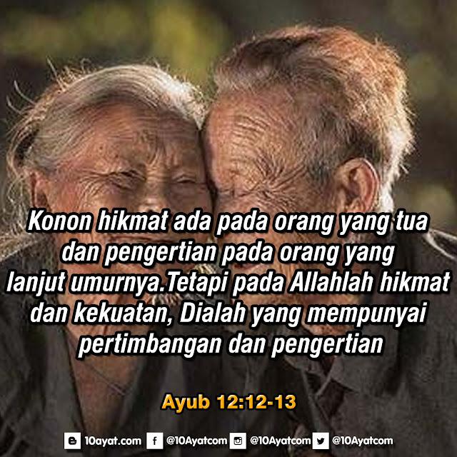 Ayub 12: 12-13