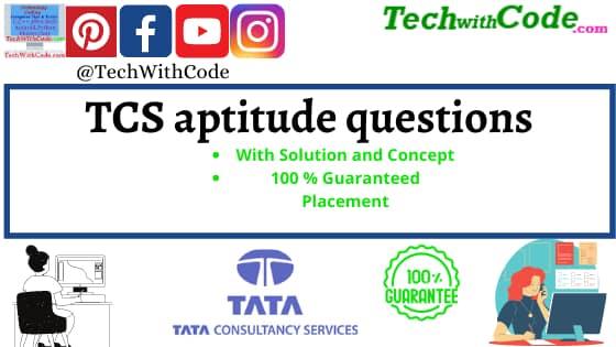 TCS aptitude questions