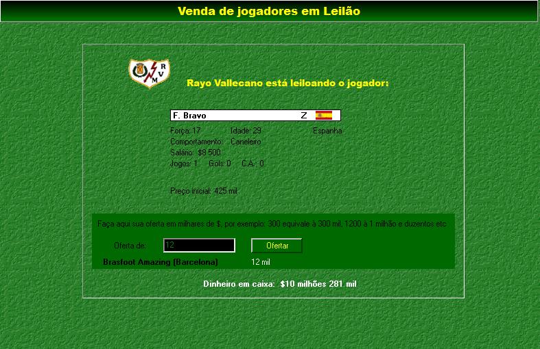 brasfoot 2003 com registro