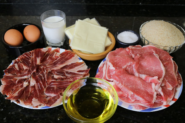 Ingredientes para san jacobos de lomo
