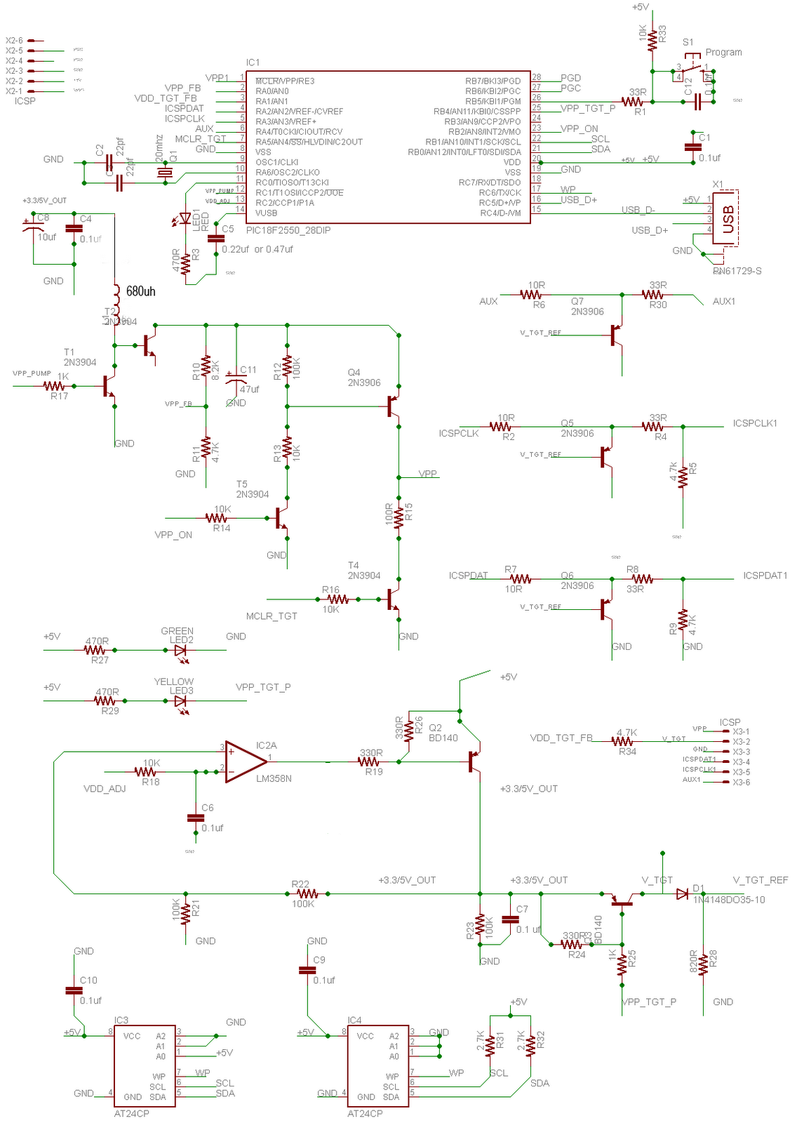 pickit 2 programmer circuit diagram martial arts 3 schematic  the wiring readingrat