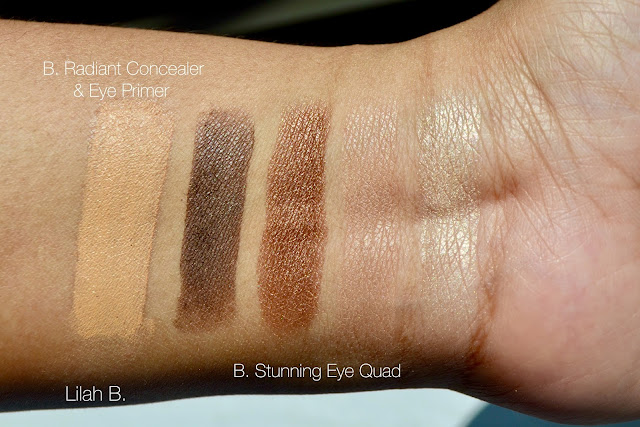 Lilah B. Reviews, Swatches, B. stunning Palette Perfection Eye Quad