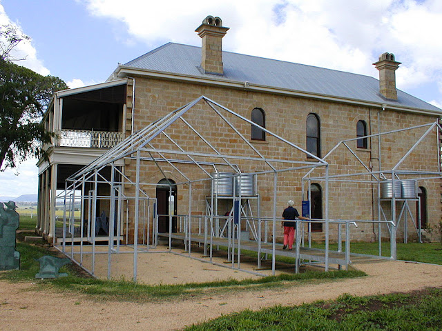 The rear of Glengallan Homestead, Queensland, Australia. Photo by Loire Valley Time Travel.
