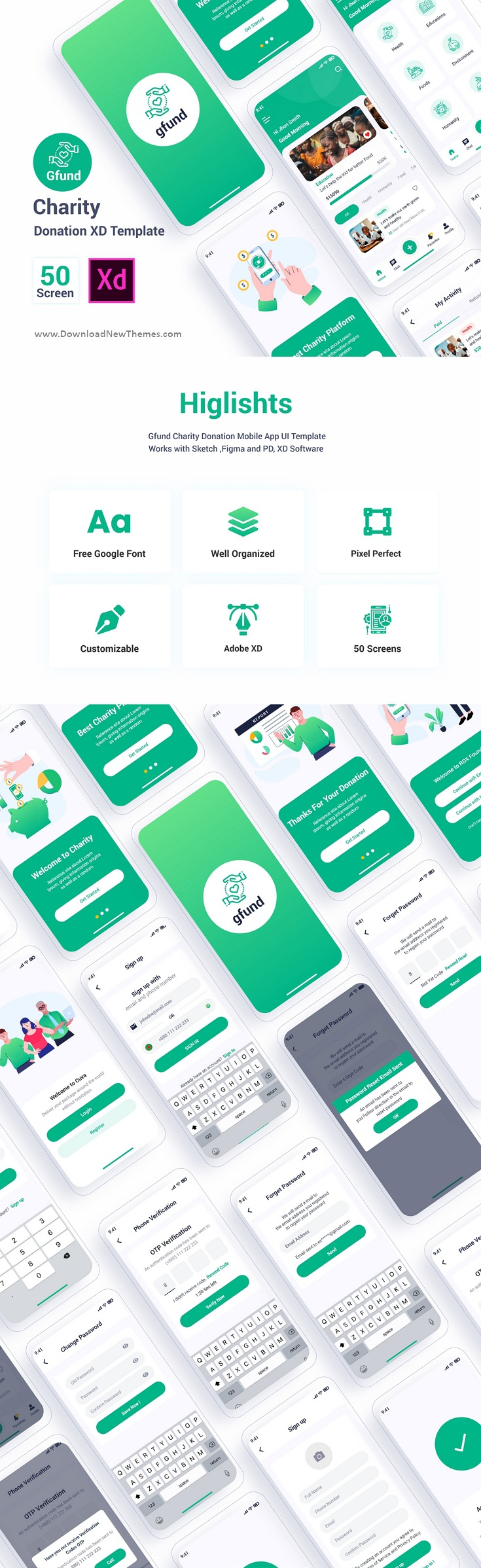 Charity Donation Adobe XD Template