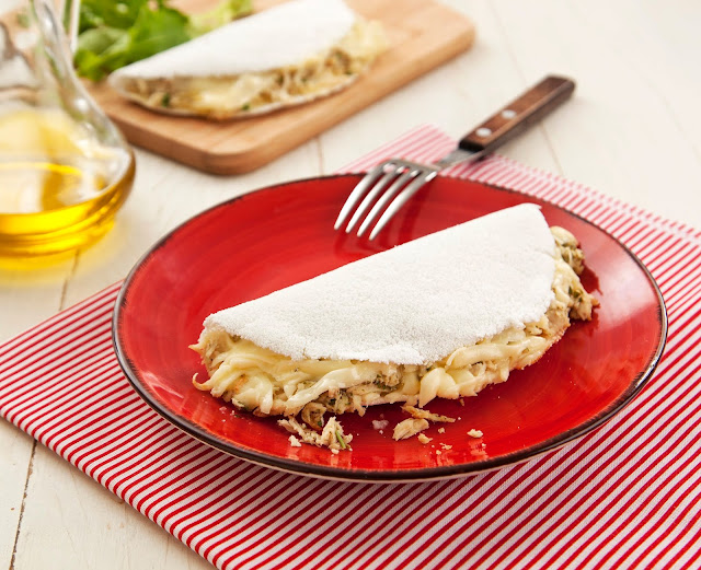 tapioca frango queijo