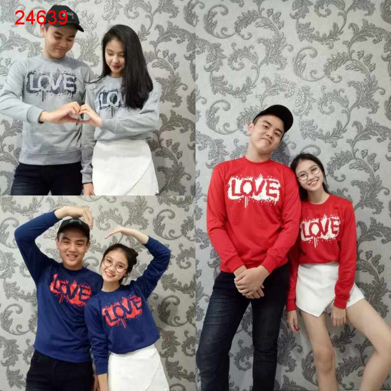 Jual Sweater Couple Sweater Love Actually - 24639