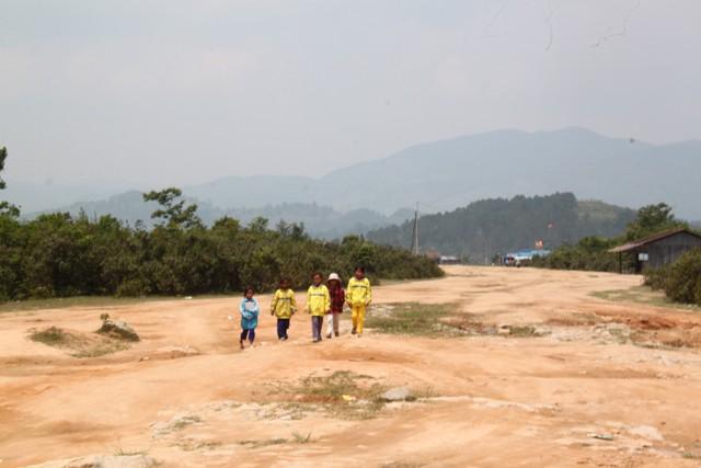 Khu vực sân bay cũ ở Măng Bút