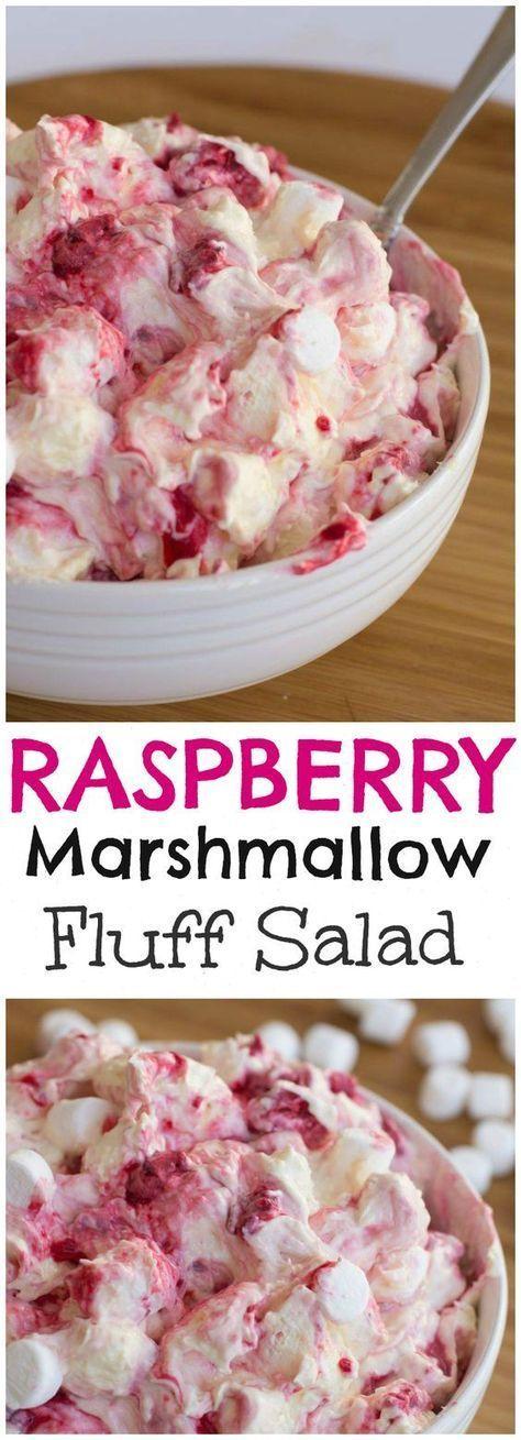 RASPBERRY MARSHMALLOW FLUFF SALAD RECIPE