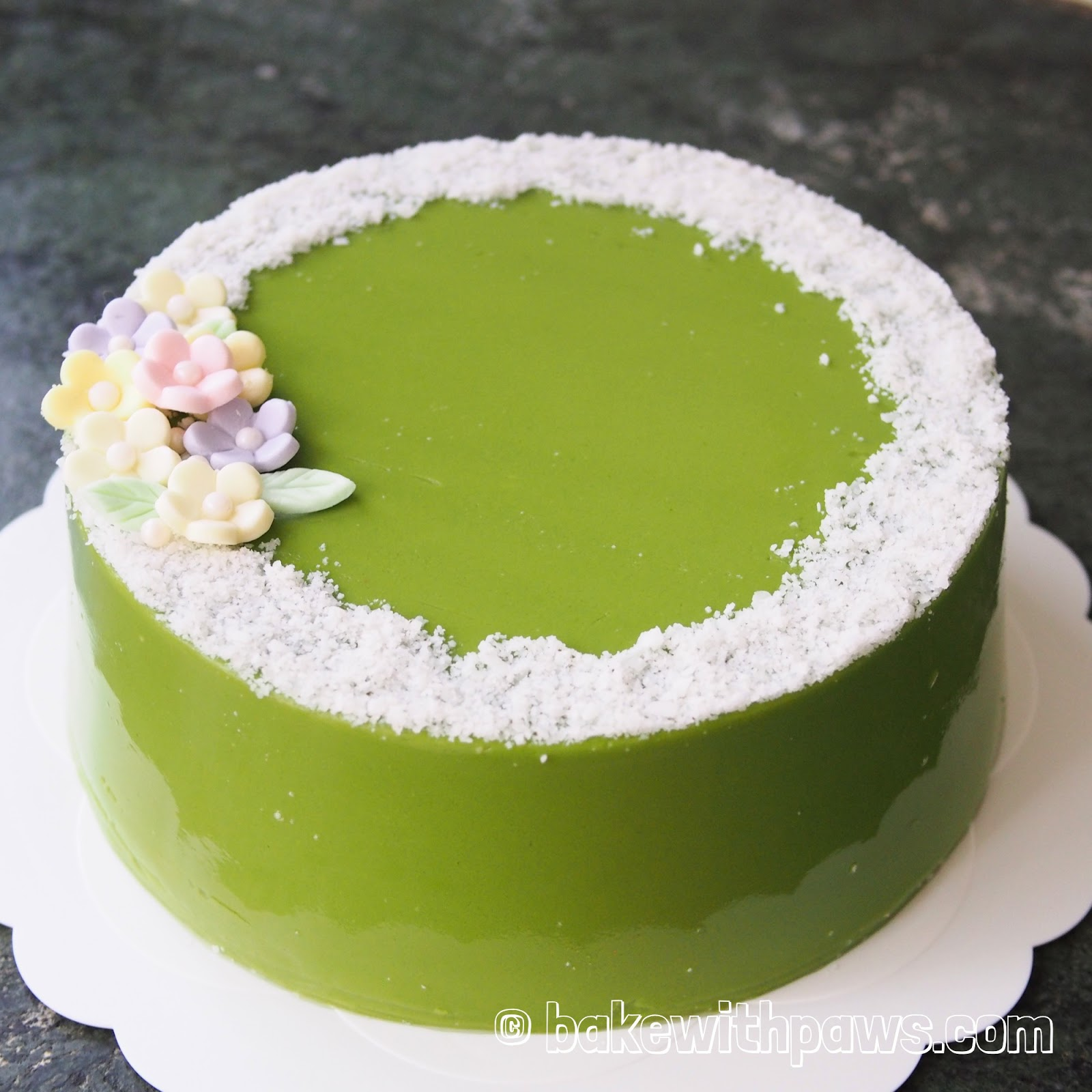 Swell Pandan Custard Layered Cake Bake With Paws Birthday Cards Printable Nowaargucafe Filternl