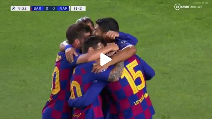 VIDEO: Barcelone 3:1 Napoli / Champions Laegue