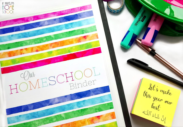 Homeschool planner printable designed for Muslim home schoolers