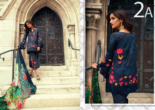 Mina Hasan Embroidered Lawn 2017