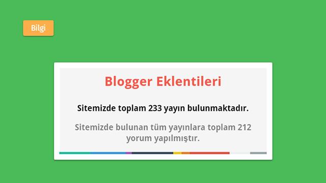 Blogger Toplam Yayın ve Yorum Sayısı Eklentisi