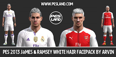 PES 2013 James & Ramsey White Hair Facepack By Arvin