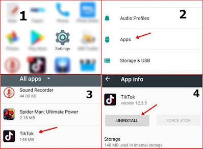android setting app apps uninstall
