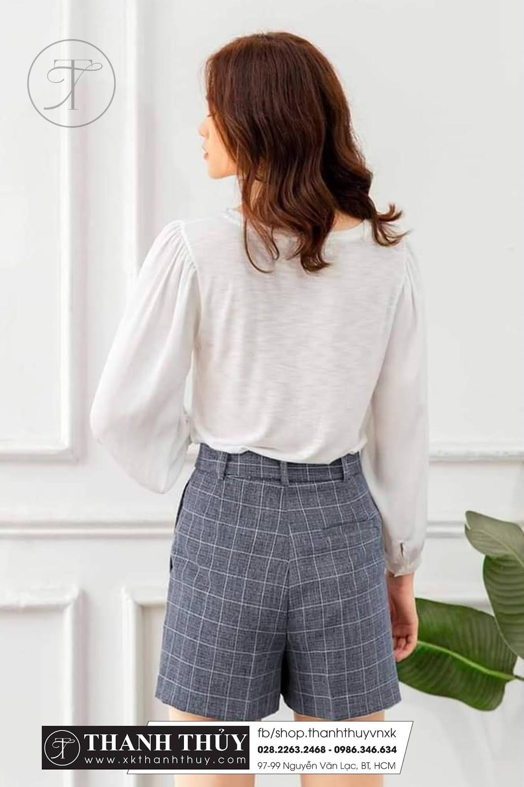 Quần Short vải tây kèm belt đồng màu