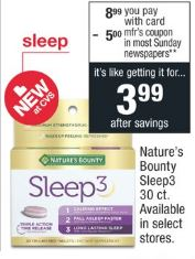 Nature's Bounty Sleep3 30 ct