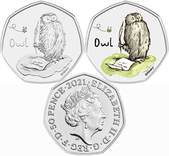 United Kingdom 50 pence 2021 - Owl